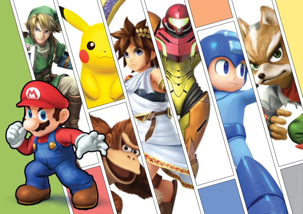 Super Smash Bros. for 3DS/WiiU by ManyLines