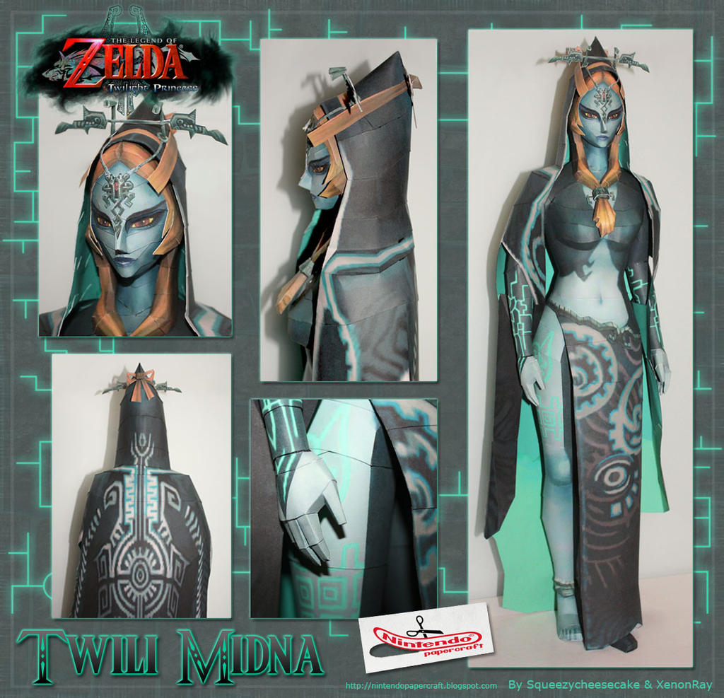 Twili Midna Papercraft by XenonRay