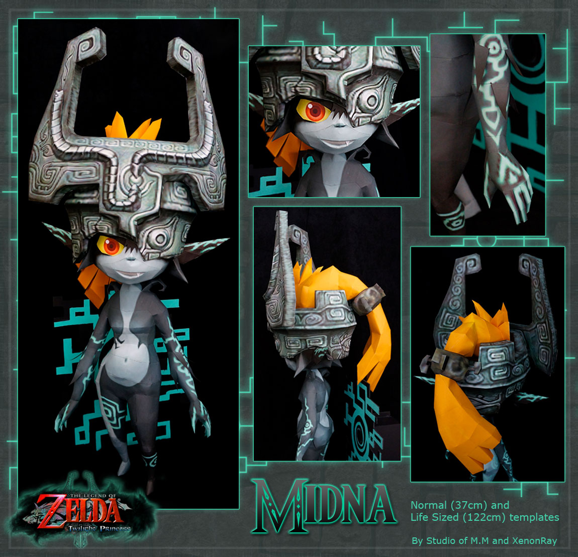 Midna Papercraft Download by XenonRay