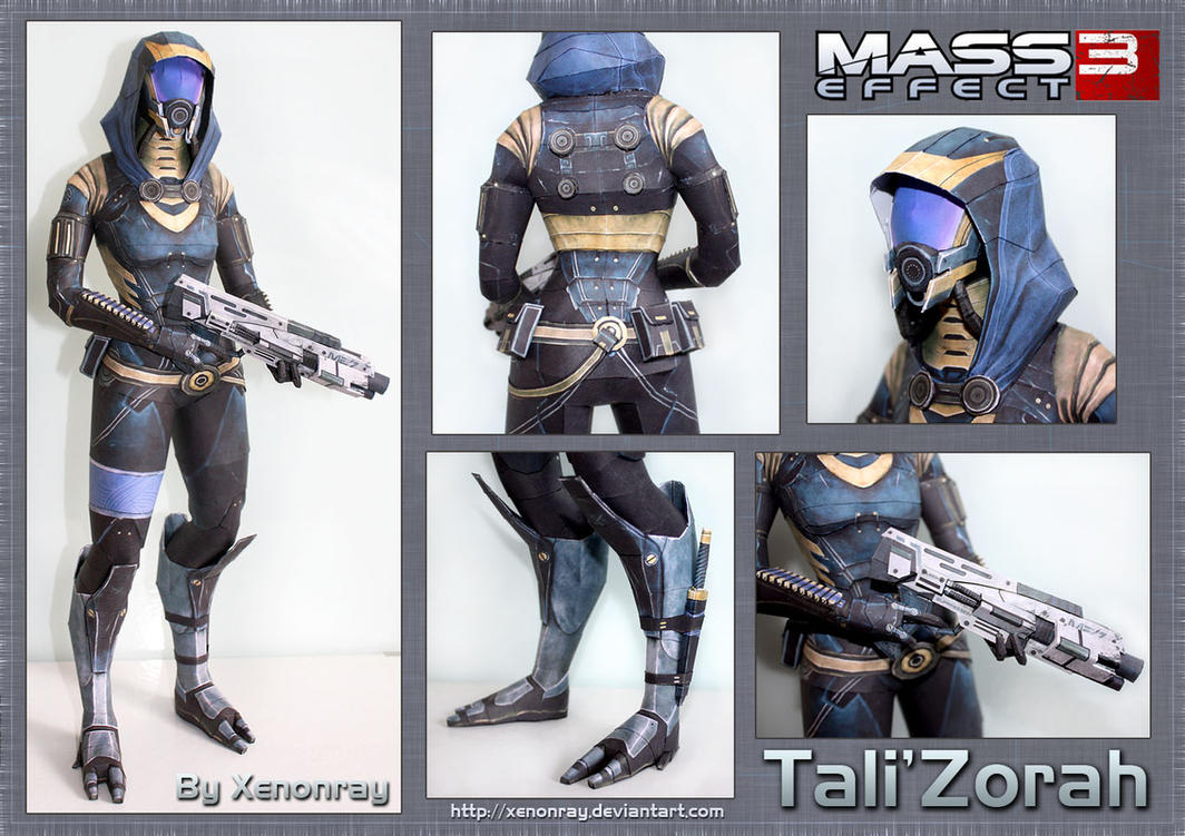 ME3 Tali Papercraft Download by XenonRay