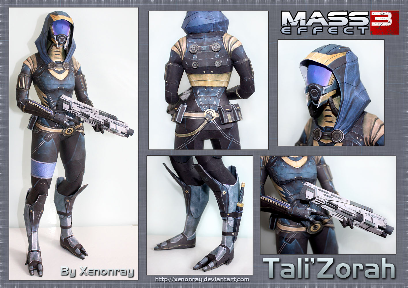 ME3 Tali Papercraft Download by XenonRay