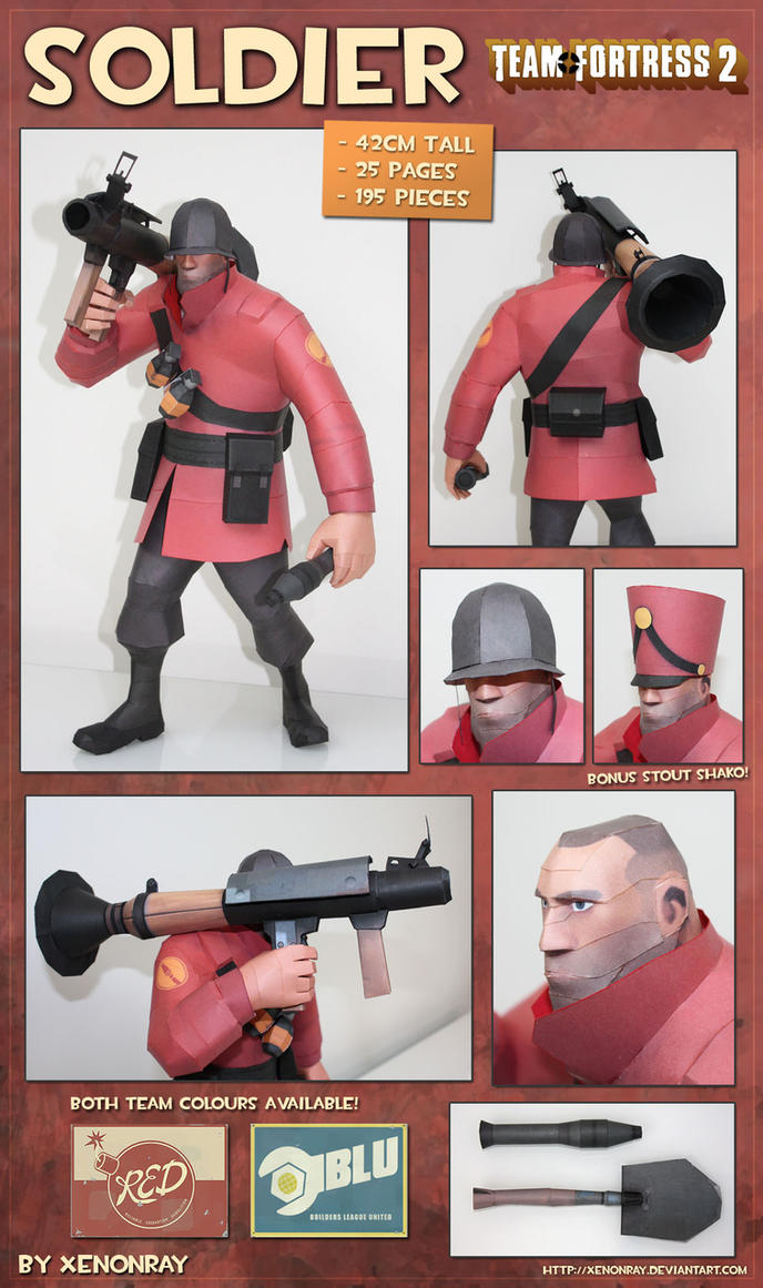 Soldier Papercraft Download by XenonRay
