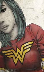 Wonderwoman Tee by L-Jalapeno