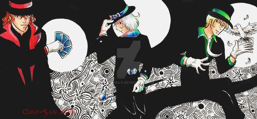 ACEO - Three Mages by Mahira-K