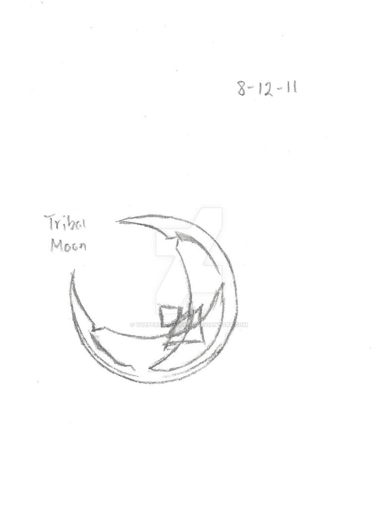 Tribal Moon Tattoo By Theperpetualbliss On Deviantart