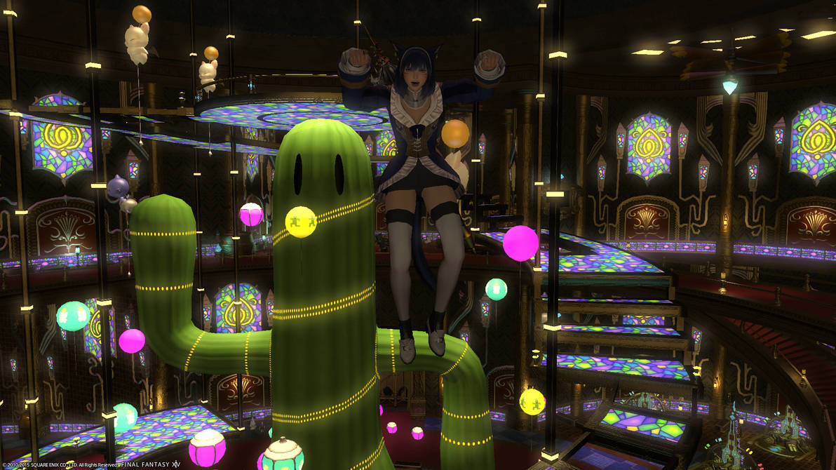 Final Fantasy XIV - Flying in Gold Saucer by Molly-Kunare on DeviantArt