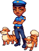 hot cop + puppers by Qweia