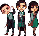 a tiny slytherin gang