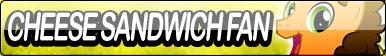 Cheese Sandwich Fan Button by Agent--Kiwi