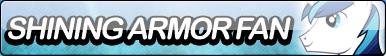 Shining Armor Fan Button by SallyGenerations