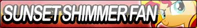 Sunset Shimmer Fan Button (Pony)