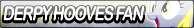 Derpy Hooves Fan Button