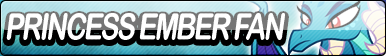 Princess Ember Fan Button