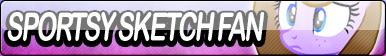 Sportsy Sketch Fan Button by Agent--Kiwi