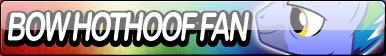 Bow Hothoof Fan Button