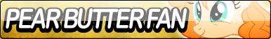 Pear Butter Fan Button