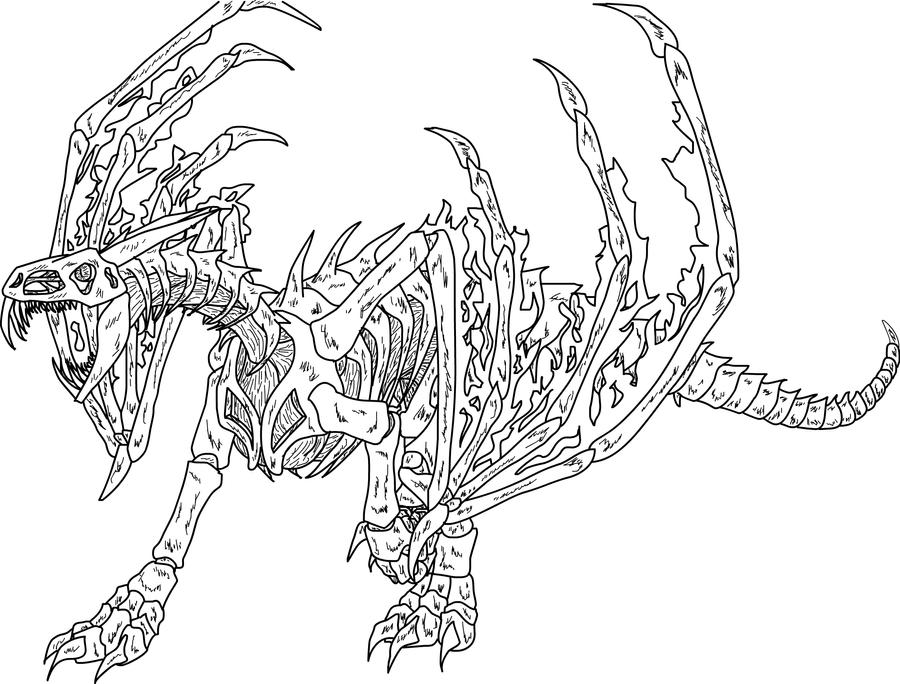 Skyrim dragons free coloring pages for Dragon coloring pages pdf