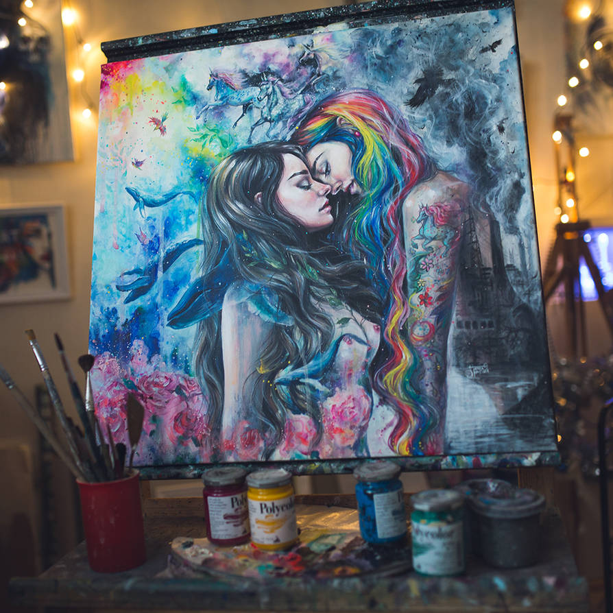 Colourful Me - original painting by TanyaShatseva