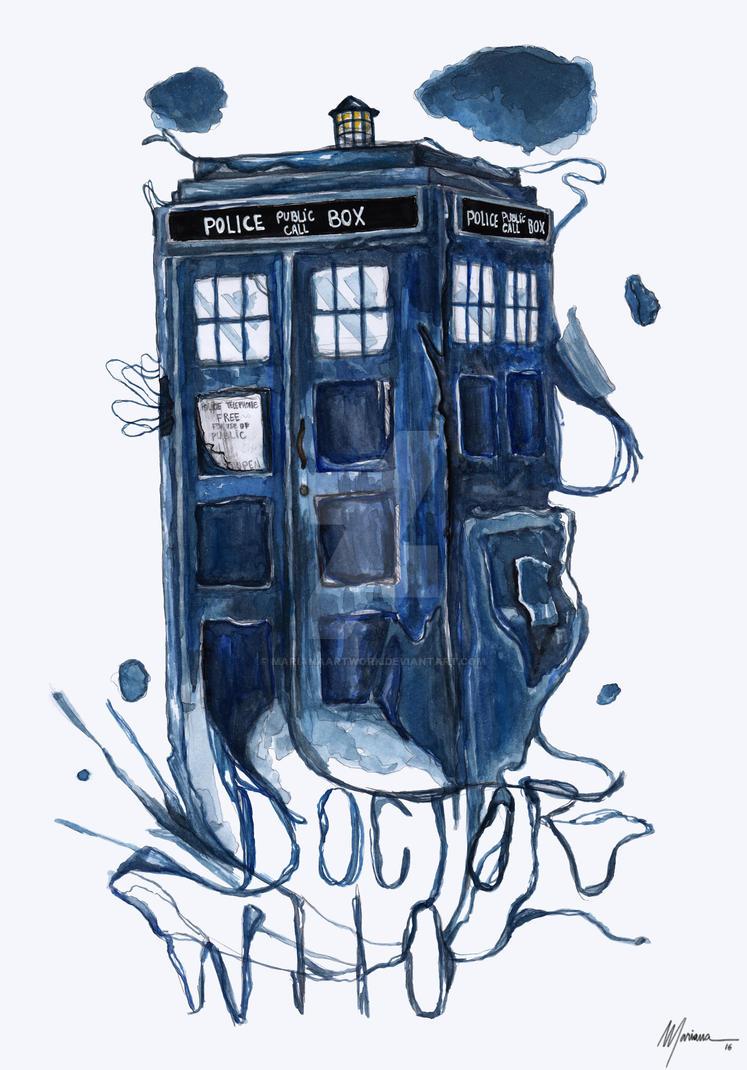 TARDIS by marianaartwork