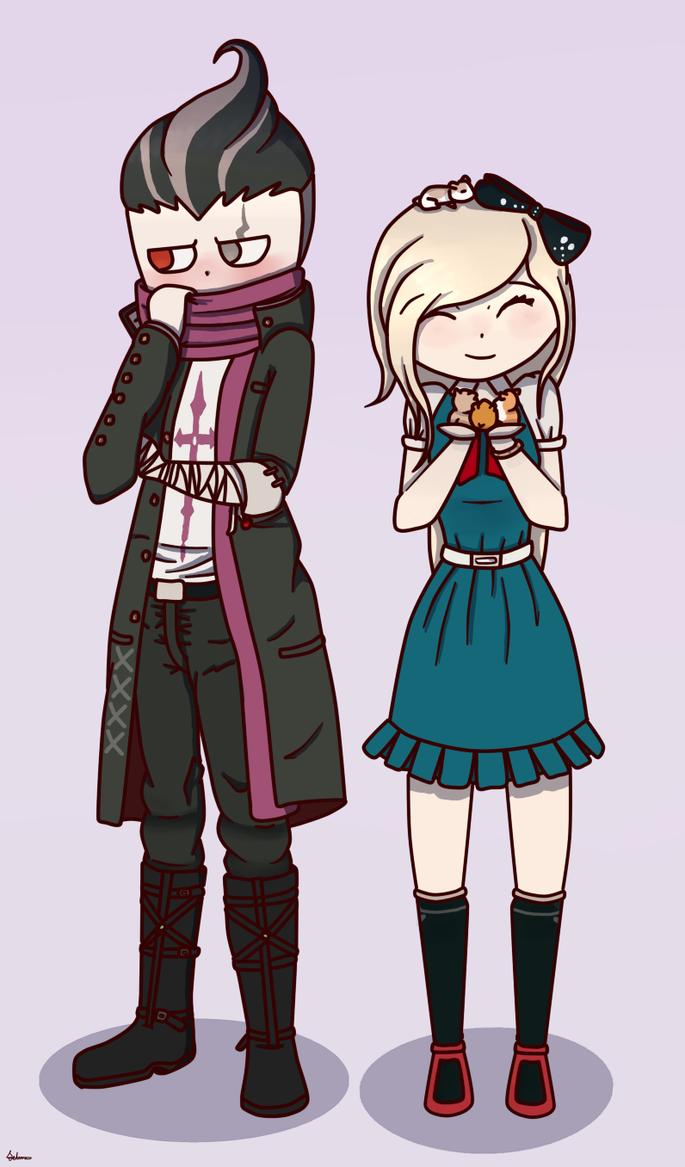 Gundam and Sonia [DanganRonpa 2] by UMarble