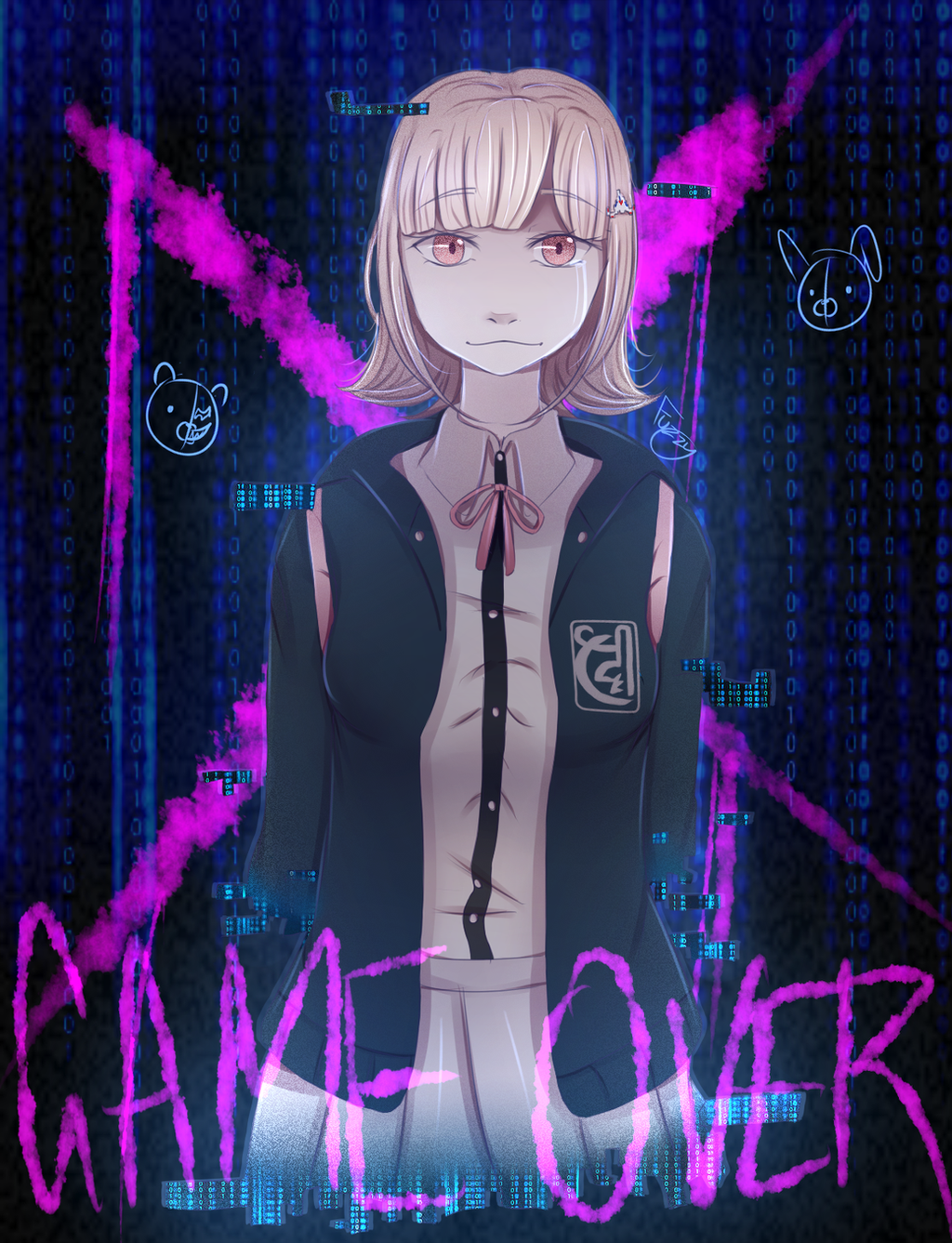 DR2 - Chiaki Nanami - Game Over by UMarble