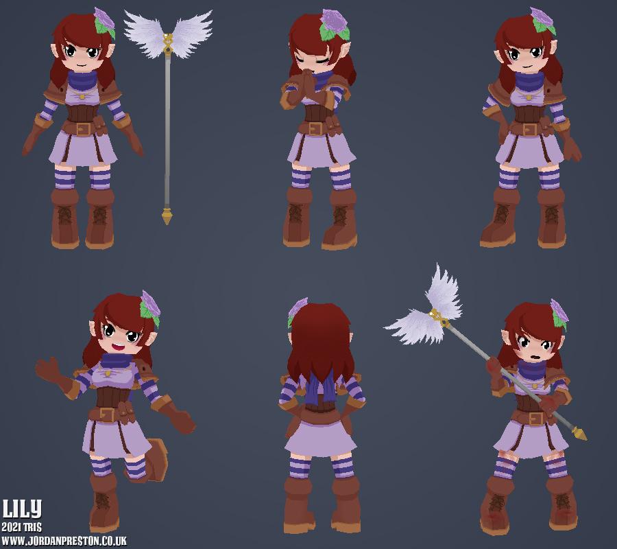 Lily 3D Model by AtelierJordan