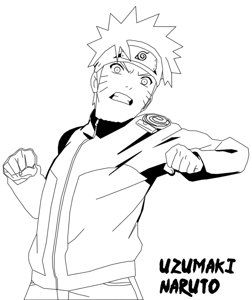 Naruto Shippuuden Line Art by DavilBoy on DeviantArt