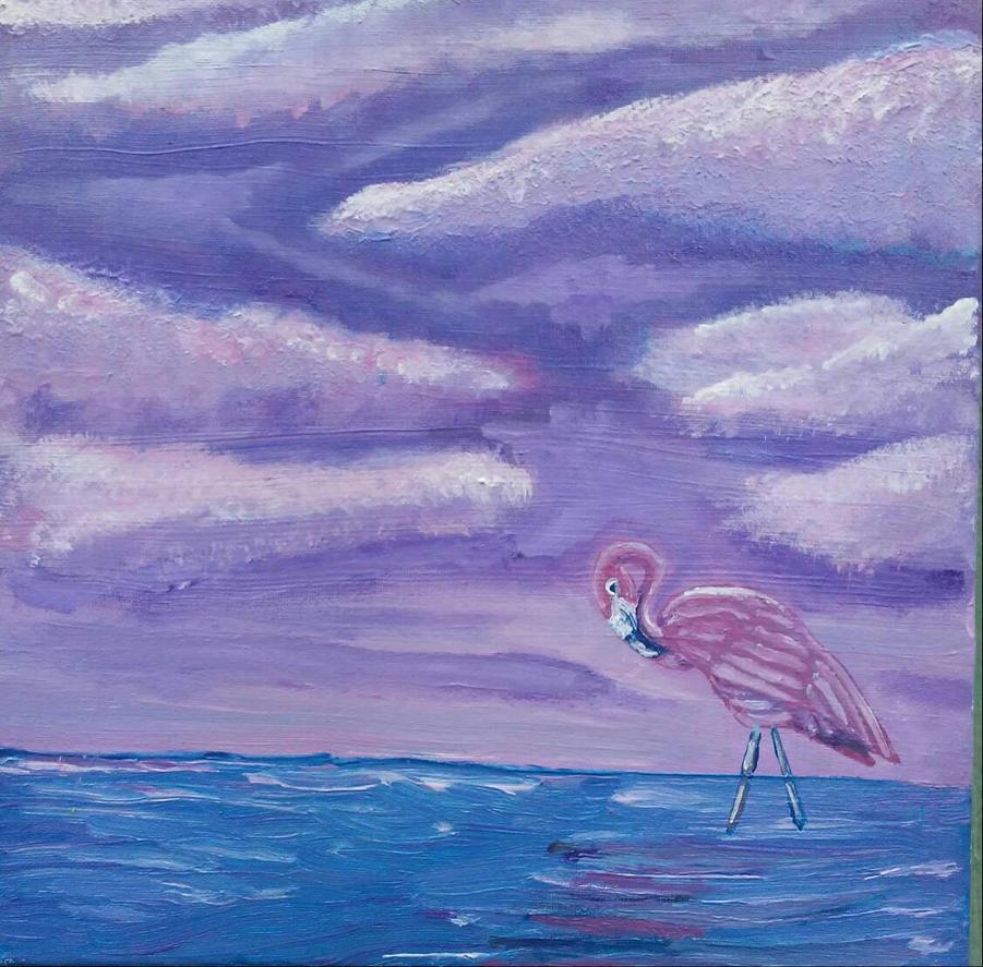 Purple flamingo  by Erikjr21