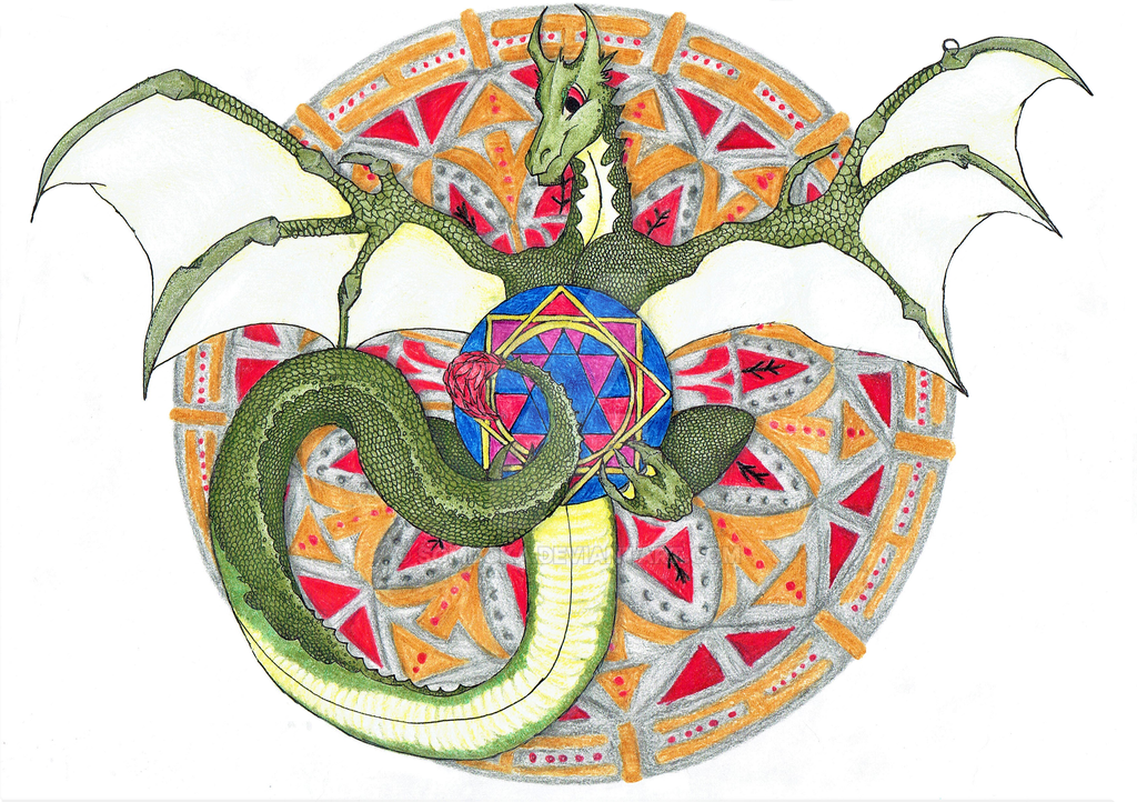 Dragon mandala by somdoka on deviantart - Mandala dragon ...