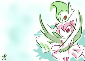 Pokemon Valentine - Gallade by YinUkume