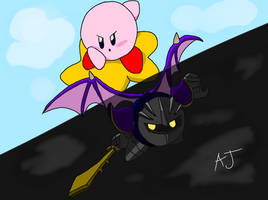 Kirby and Meta Knight by SeagullYourBuddy