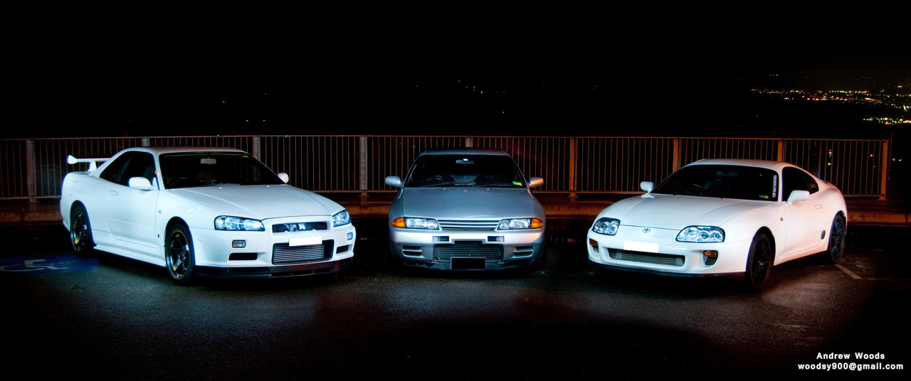 R34 Gtr R32 Gtr And Supra By Woodsy900 On Deviantart
