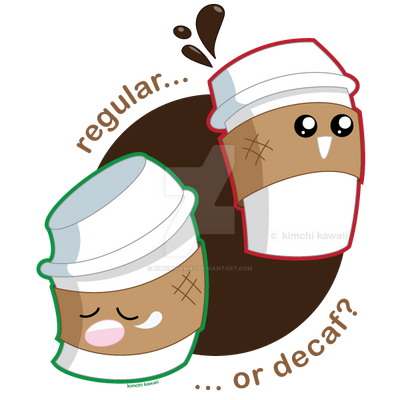 Regular vs. Decaf by kimchikawaii on DeviantArt