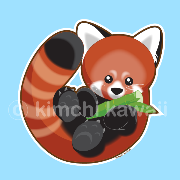 Red Panda by kimchikawaii