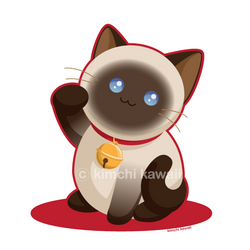 Lucky Cat by kimchikawaii