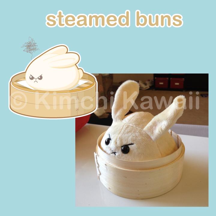 Steamedbuns-plush by kimchikawaii