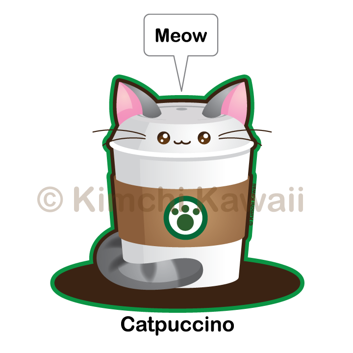 Kawaii Catpuccino by kimchikawaii