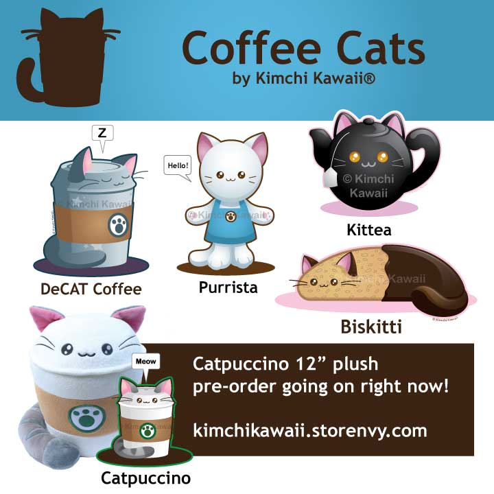 Coffee Cats by kimchikawaii