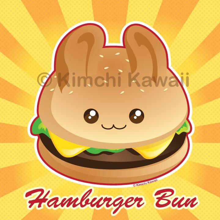 Punny Bun: Cute Hamburger Bunny by kimchikawaii