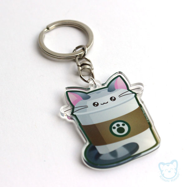 Catpuccino Clear Keychain by kimchikawaii