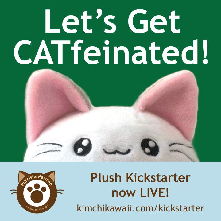 Cute Coffee Cat Plush by kimchikawaii