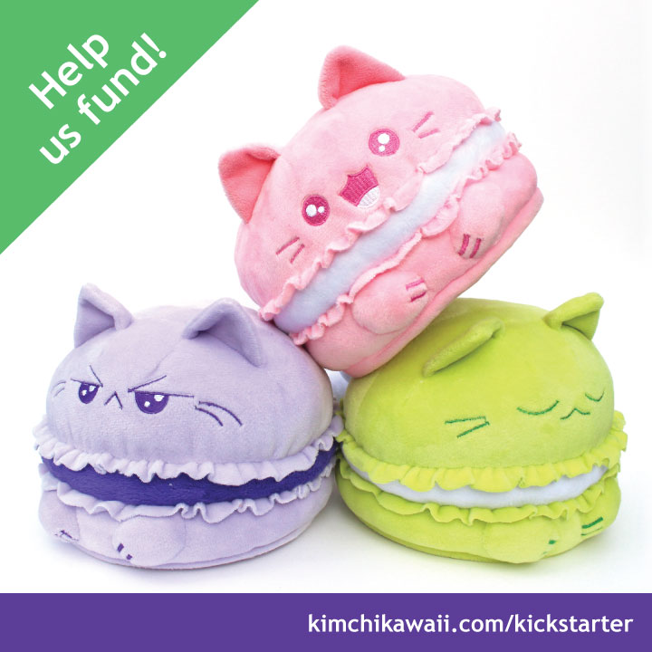 Cute Kitty Macarons by kimchikawaii