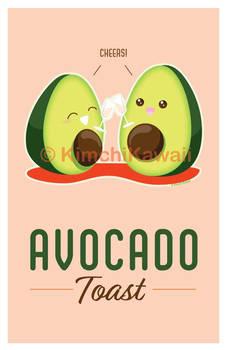 Cute Pun Avocado Toast