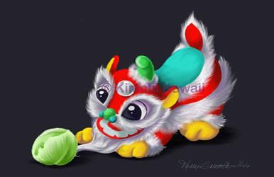 Cute Chinese Lion Dancer