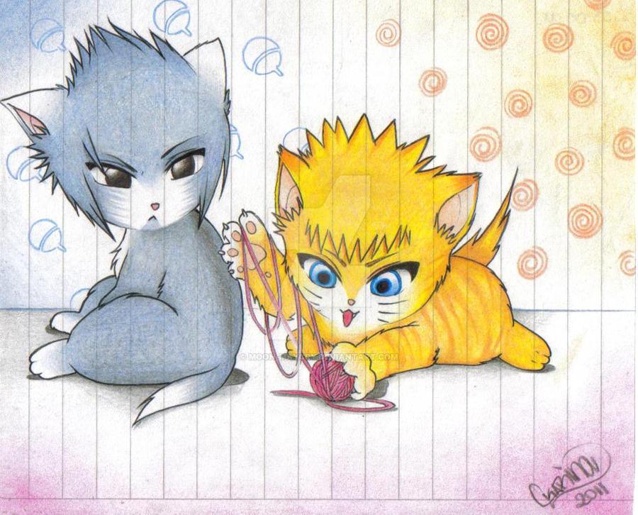 Sasuke y Naruto Cats by Moon-MayCry on DeviantArt  Sasuke As A Cat