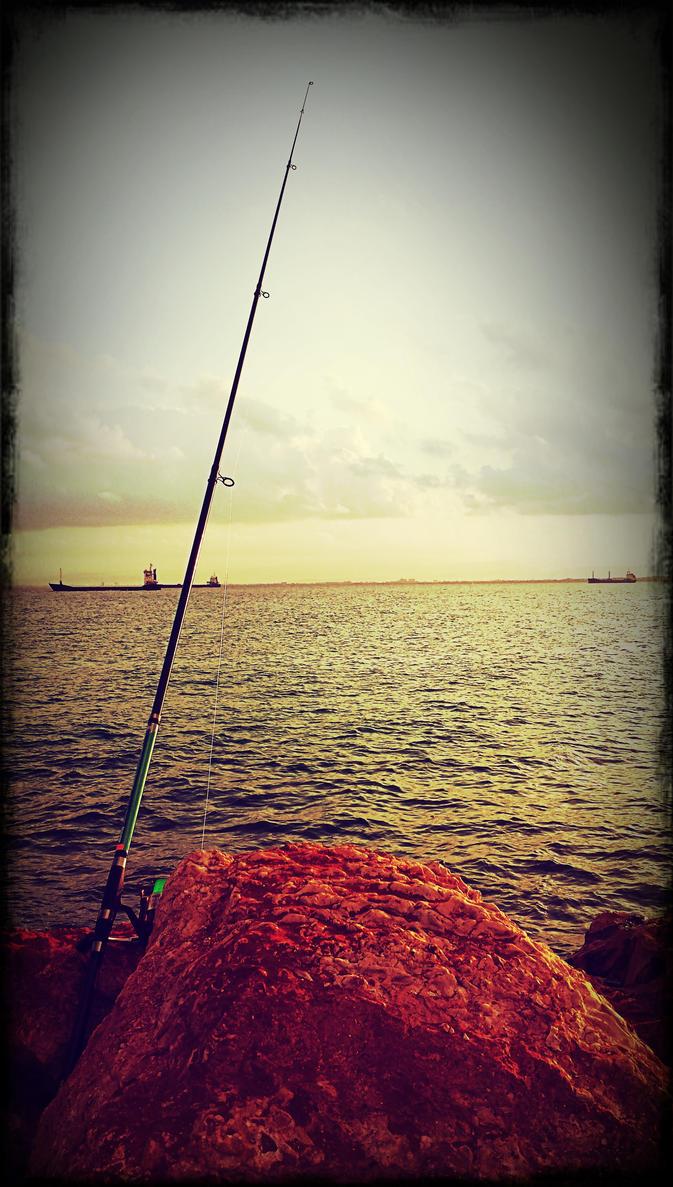 fishinig at hifa port by guy191184