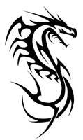 dragon lined-tribal by insomnia-maniac