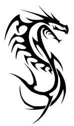 dragon lined-tribal