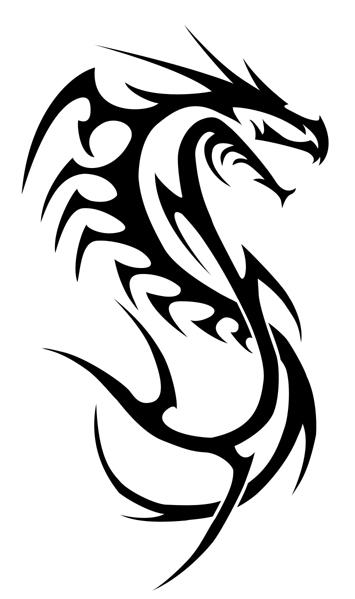 dragon lined-tribal by insomnia-maniac