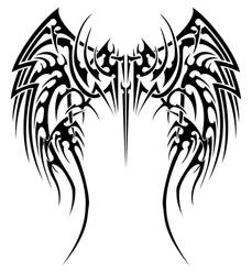 Angelic tribal wings by insomnia-maniac